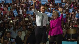 USA : premier meeting de campagne commun d'Hillary Clinton et Barack Obama