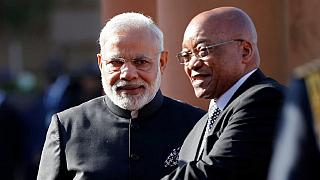 Afrique du Sud : le Premier ministre indien Narendra Modi accueilli en rock star