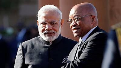 Modi addresses Indian community in Johannesburg