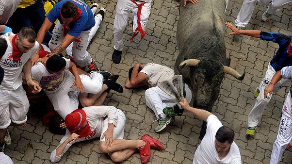 Mehr als ein Dutzend Verletzte bei Stierhatz in Pamplona