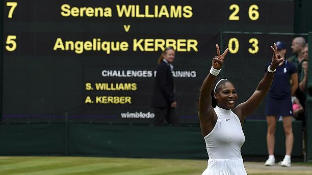 Serena Williams beats Angelique Kerber to claim seventh Wimbledon singles title
