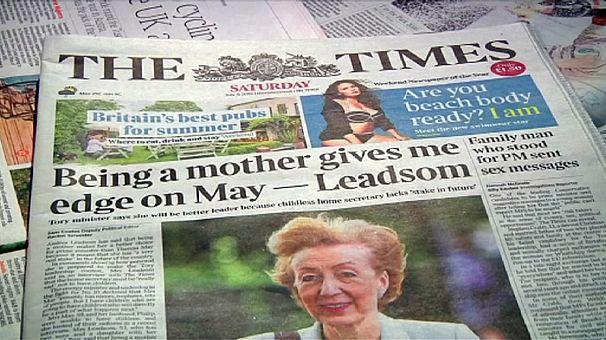 Andrea Leadsom lascia la corsa alla successione del premier britannico David Cameron