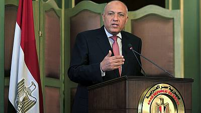 Egyptian foreign minister in Israel on a negotiation mission