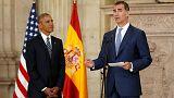 اوباما في اسبانيا في زيارة مختصرة يختمها بلقاء جنوده في قاعدة روتا العسكرية