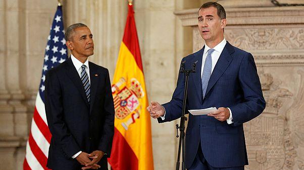 Επίσκεψη-αστραπή του Μπαράκ Ομπάμα στην Ισπανία
