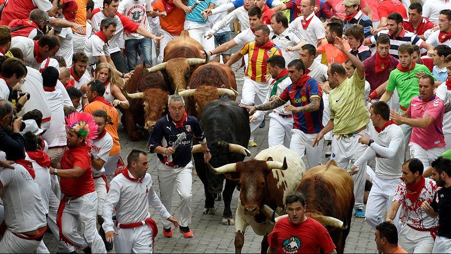 Négy sérült a pamplóniai bikafuttatás negyedik napján