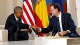 Barack Obama meets Spanish PM