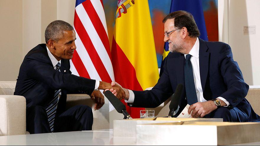"""Em Madrid, Obama saúda """"o progresso económico de Espanha"""""""