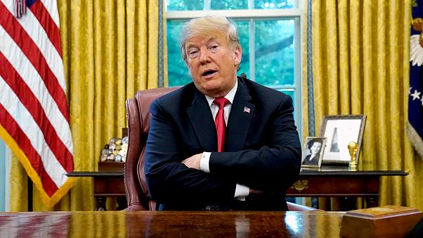 Image: FILE PHOTO: U.S. President Trump speaks to reporters in the Oval Off