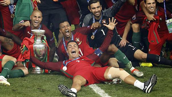 Portugal crowned European Champions after Ronaldo was forced off injured in the first half