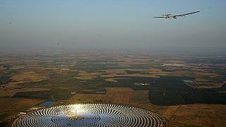 Avião Impulse II parte de Sevilha rumo ao Cairo