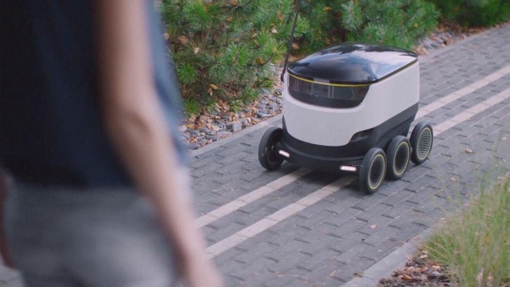 روبوتات لتسليم الطعام والمواد الغذائية في المدن الأوروبية