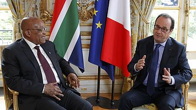 South Africa's Zuma in France to bolster relations