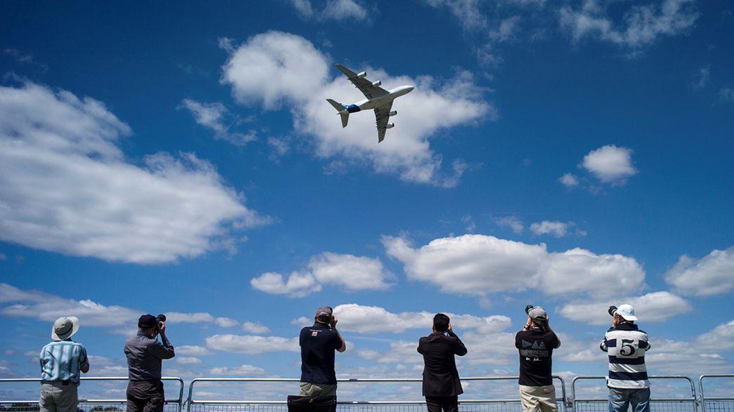 آغاز به کار نمایشگاه بین المللی هوا فضای «فارن بورو» بریتانیا