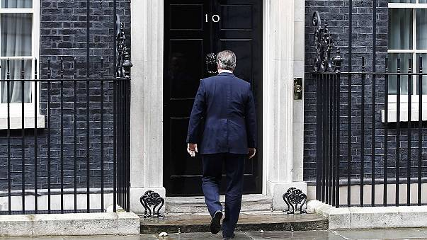 Watch: Cameron hums a merry ditty after quitting as British PM