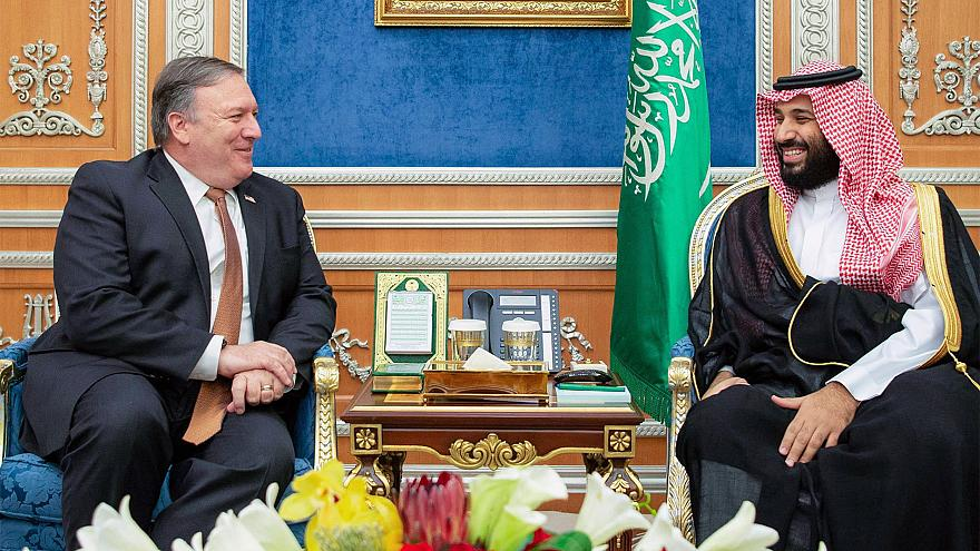 Image: Secretary of State Mike Pompeo meeting with Saudi Crown Prince Moham