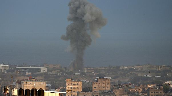 Image: Israeli air strike in the Gaza Strip