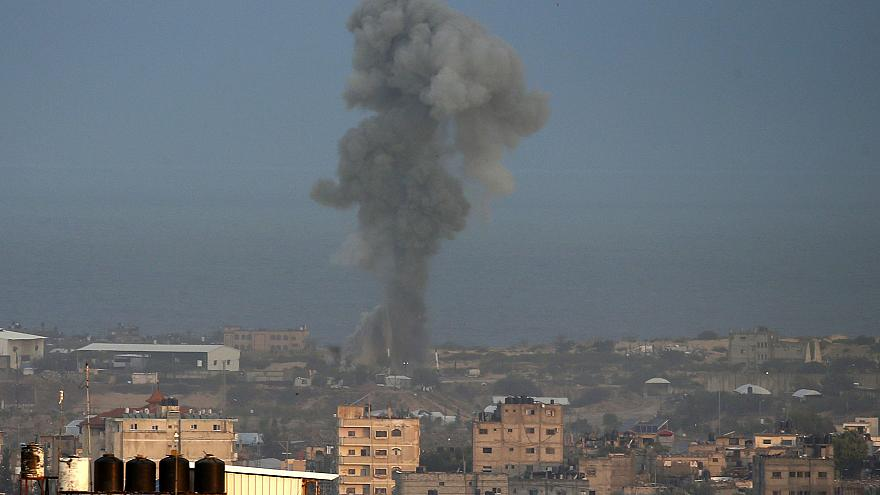 Image: Israeli air strike in the Gaza Strip