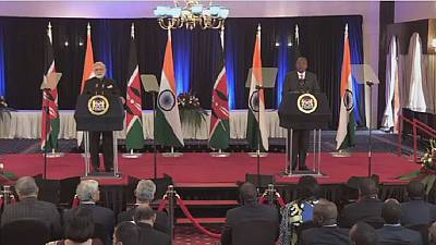 Modi pledges closer cooperation with Kenya in landmark visit