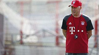 Ancelotti heads first training in Bayern