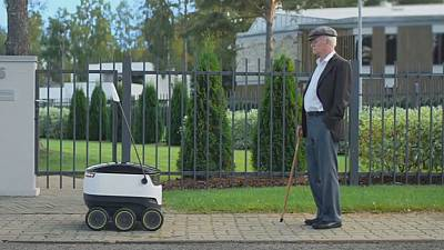Delivery robots are coming