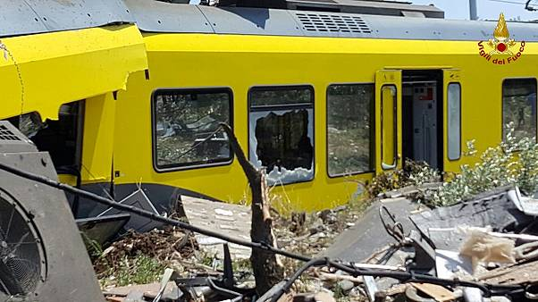 Twenty dead after head on train collision in southern Italy