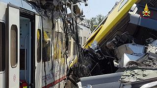 Twenty dead and more injured as passenger trains collide in southern Italy