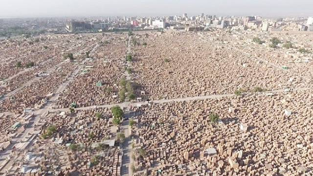 Ирак: съемки с дрона самого большого в мире кладбища