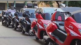 Egypt: Motorcycle taxis provide faster option through congested traffic.