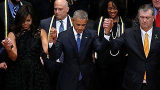 Barack Obama afirma que a sociedade norte-americana não está assim tão dividida quanto parece e apela à reconciliação