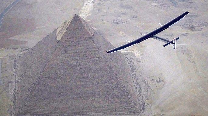 El Cairo, última escala del Solar Impulse II antes de terminar su vuelta al mundo en Abu Dabi