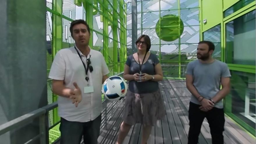 Watch in 360° - how Euronews' multinational sport team saw Euro2016