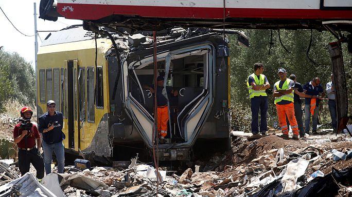 A vasúti berendezéseket vizsgálják Dél-Olaszországban