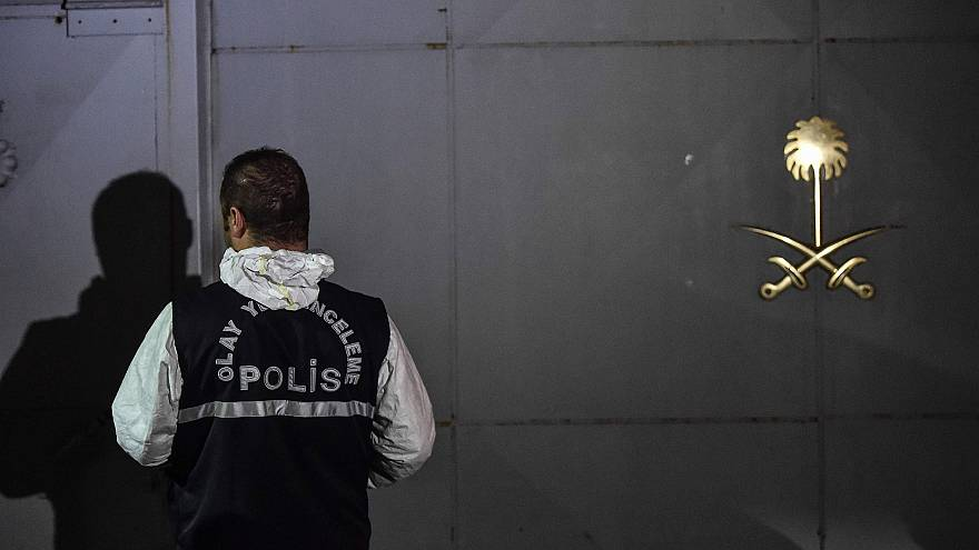 Image: A Turkish forensic police at the Saudi consulate