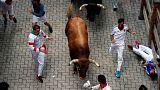 Último encierro de los Sanfermines, que dejan el mayor número de heridos por asta de toro en más de una década