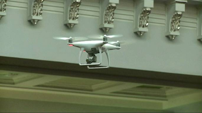 Drone launched to 'monitor fraud' in Ukraine parliament