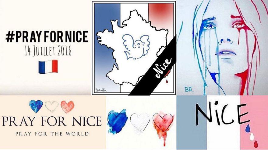 Blau-weiß-rot nach #Nizza: Trauer in den sozialen Medien