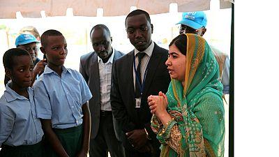 Nobel winner Malala tours refugee camps
