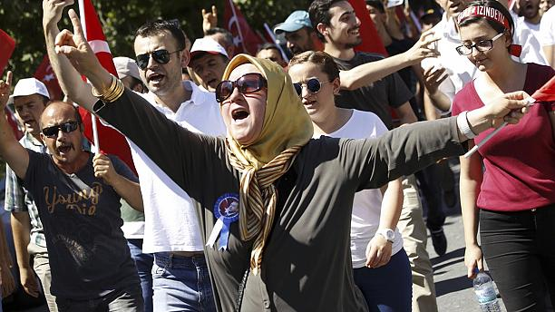 Defiant mood in Turkey after coup fails
