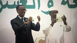 African passport launched, Idris Deby & Paul Kagame get first copies