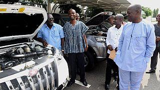 Ghana's veep patronizes 2 locally made Sport Utility Vehicles