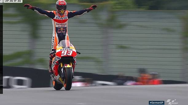 Marc Marquez makes it a magnificent seven at Germany's Sachsenring