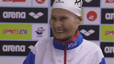 Century old Japanese swimmer aims for more records