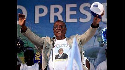 Evaristo Carvalho élu président