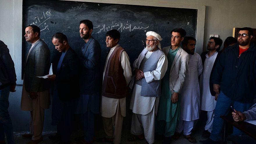 Image: AFGHANISTAN-UNREST-ELECTION-VOTE