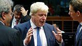 """Boris Johnson à Bruxelles: """"nous n'abandonnerons pas notre rôle de meneur"""""""