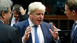 All friends for foreign minister Boris Johnson's first meeting with EU counterparts