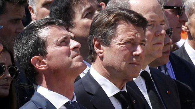 Fransa Başbakanı Valls Nice'te yuhalandı