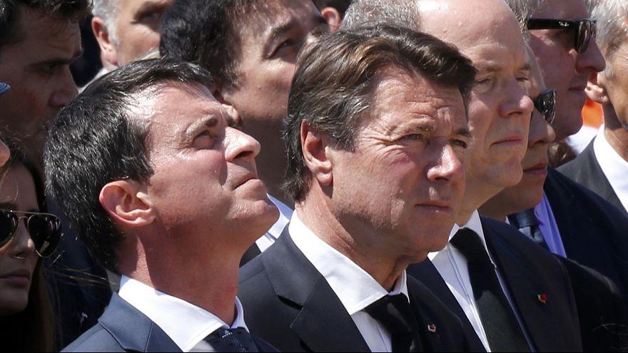 Nice: Primeiro-ministro Manuel Valls reage às vaias durante homenagem
