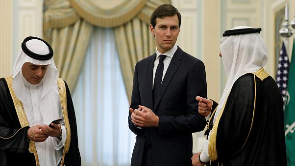 Image: White House senior advisor Jared Kushner attends events with U.S. Pr